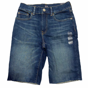 NWT GAP Kids Boys Stretch Denim Shorts Sz 10-12-14 Medium Wash #540262