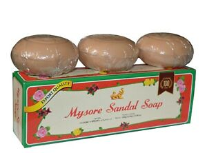 Mysore Sandal / Sandalwood Soap Export Quality (150gm x 3 in 1 gift pack)