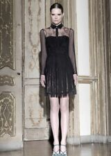 Valentino Black Suede Lace Dress