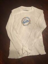 Quiksilver Boy's (10/12) White Long Sleeve Shirt. TL9