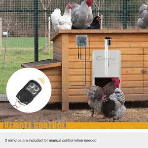 Automatic Chicken Coop Pop Hole Door Opener with Photocell IR Sensors Pet Ducks