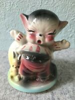 Crying Kitten Kitty Cat Vintage American Bisque USA Pottery Planter