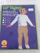 Size Small Beige Opaque Girls Nylon Tights Rubies Dance Costumes Halloween