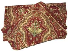 "Pottery Barn NWOT Red Paisley 26"" X 26"" Pillow Euro Sham Cover"