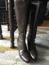 Hugo boss Ladies Boots new leather size 39 brown designer long