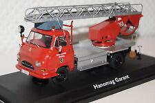 Hanomag Garant Feuerwehr m. Bachert Drehleiter rot 1:43 Schuco neu + OVP 3241