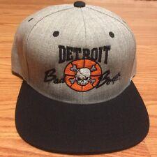 Detroit Bad Boys '88-'89 Pistons NBA Champions Retro Heather Snapback Hat Cap