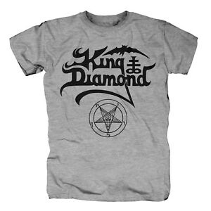 KING DIAMOND - Black Logo Grau meliert T-Shirt
