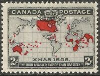 CANADA 85 2c 1898 WORLD MAP AND XMAS STAMP MNH GUM CREASES (#5) CVIS$100