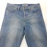 Levi's 314 Shaping Womens Jeans W31 L30 Blue Regular Fit Straight High Rise