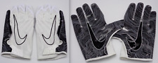 Nike Vapor Knit 3.0 Football Gloves White/Black/Silver Men's 4Xl Xxxxl