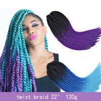 "22"" Jamican Braids Hair Senegalese Twist Braids Synthetic Crochet Hair Extension"