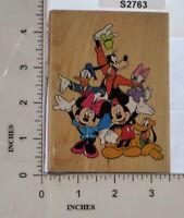 All Night Media Wood Block Stamp Disney Micky and Friends Minnie Donald Goofy