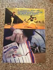 1986 VINTAGE 8X11 BOOK PROMO PRINT Ad FOR THE NY METS 25TH SEASON AN AMAZIN' ERA