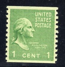 US STAMP #839   1c PRESIDENTIAL COIL  XF   MINT   GRADED 90