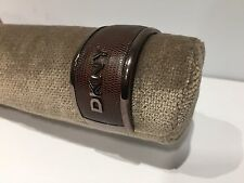 Nuevo - Pulsera Esclava Bracelet DKNY - Acero & Piel Marrón - Steel & Leather
