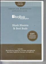 Creative Memories StoryBook Creator Plus ~ BLUSH BLOOMS & BEST BUDS Digital Cont