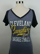 NBA Brand Cleveland Cavaliers Womens SS V Neck Heather Blue T Shirt Large