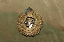 Original WW2 British Royal Engineers Metal Overseas Hat Badge w/Attachment Clip