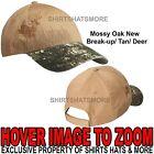 Embroidered Camo Baseball Cap Hunting Hat Mossy Oak New Break-up/Tan/Deer NEW