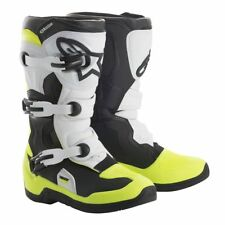 Alpinestars Tech 3S Youth Boots Black/White/Yellow Size 4