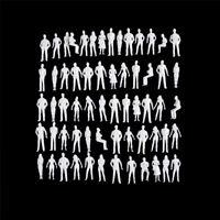 10 PCS 1:50 modelo a escala humana modelo HO modelo ABS personas de plástico
