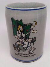 Vintage Beer Stein Stoneware Peter Gerz Germany Geh' mach Dei' Fensterl auf!