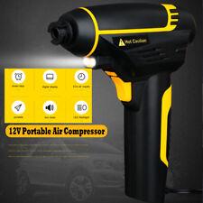 12V Portable Digital Tyre Tire Inflator Air Compressor Electric Pump LED