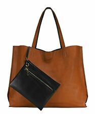 NEW Stylish Reversible Tote Bag  Camel/Black FREE SHIPPING