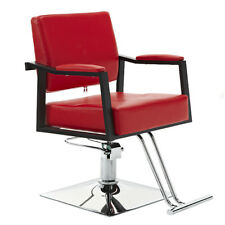 Haircut Hydraulic Barber Chair Hair Beauty Equipment Modern Red Styling Salon