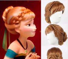 2018 HOT! Princess Anna Coronation Cosplay Party Updo Synthetic Full Wig J88