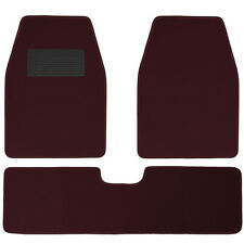 Car Floor Mats for Auto Carpet Semi Custom Fit Heavy Duty w/Heel Pad Burgundy
