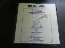 Marklifts 30KBDF Self-Propelled Knuckleboom Operation Maintenance Parts Manual