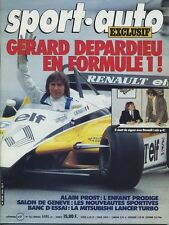 SPORT AUTO n°243 04/1982 GP PORTUGAL MITSUBISHI LANCER TURBOAVEC ENCART & POSTER