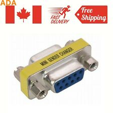 New Serial RS-232 DB9 9 Pin Female to Female Gender Changer Coupler Adapter
