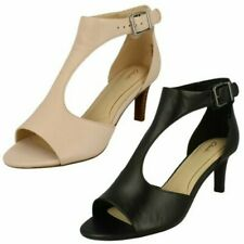 Ladies Clarks Peep Toe Heeled Sandals Laureti Star
