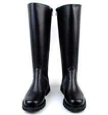 Mens Leather Military Boots Equestrian Flats Riding Boots Knight Knee High Shoes
