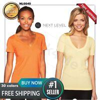 Next Level Women's CVC Deep V-Neck T shirt- top casual NL6640 great SALE !
