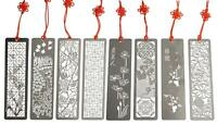 Metal Bookmarks 8 Pcs Hollow Art Stainless Steel Book Mark