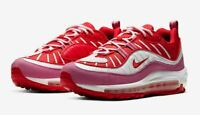 Nike Air Max 98 Pink Red White Running Leather Womens CI3709-600 Flamingo