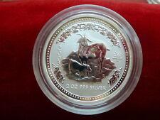 """2 Dollar/2 Unzen 2003 Australien, Lunar I """"Jahr der Ziege"""" st"""