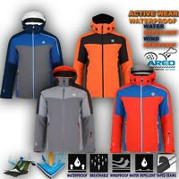 Mens Waterproof Ski Jacket Hiking Work Padded Winter Warm Coat Hoodie Intermi