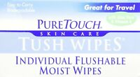 Flushable Tush Wipes, PureTouch Skin Care, 24 piece