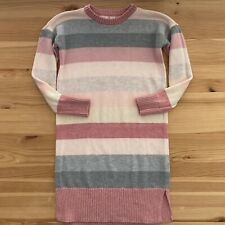 GAP KIDS Pink/Gray Stripe Sweater Dress Size S (6-7)