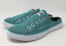 Converse Chuck it Mule Slip-on Turquoise Mesh Sneakers  Men's 7 Women's 9