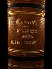 1855 Dante Alighieri Divine Comedy Commentary Cesari Inferno Purgatory Paradise