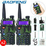 2 x Baofeng UV-5R Dual Band UHF/VHF Radio RF 5W FM Ham 2 Way Radio Walkie Talkie