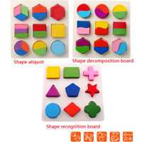 Kinder Holzform Puzzle Puzzle Early Learning Vorschule pädagogisches Spielzeug
