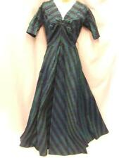 1950s Evening Gown Long Dress Vintage 12 - 14 ~ mint condition Blue / Green