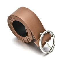 Fashion Women Vintage Metal Boho Leather Round Buckle Waist Belt Waistband UP